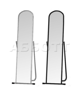 5МSO-01  (черный муар) Зеркало примерочное напольное