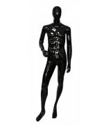 МGM5  Манекен мужской глянцевый 183, 94-76-95 черный подставка-металл